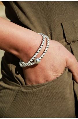 Bracelet modulable collier perle métal
