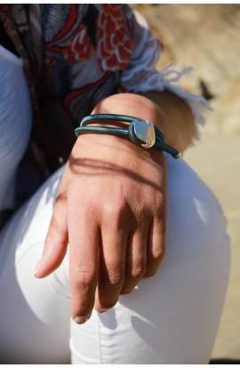 Bracelet galet métal