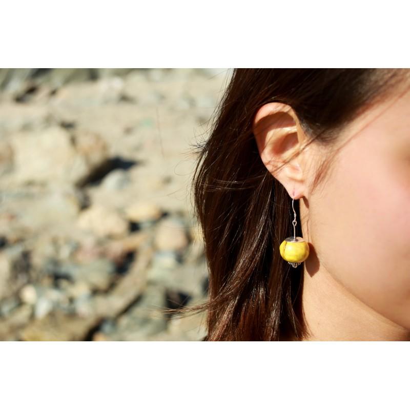 Boucles d'oreilles boule céramique